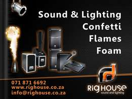 Stages Sound Lighting Hire for all events!