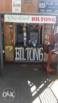 Well established biltong shop for sale clarens
