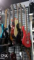 Bass guitars and solo guitars