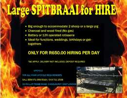 Large Spitbraai for hire
