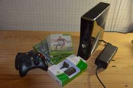 Xbox 360 2 remotes 5 games headset 250 gig