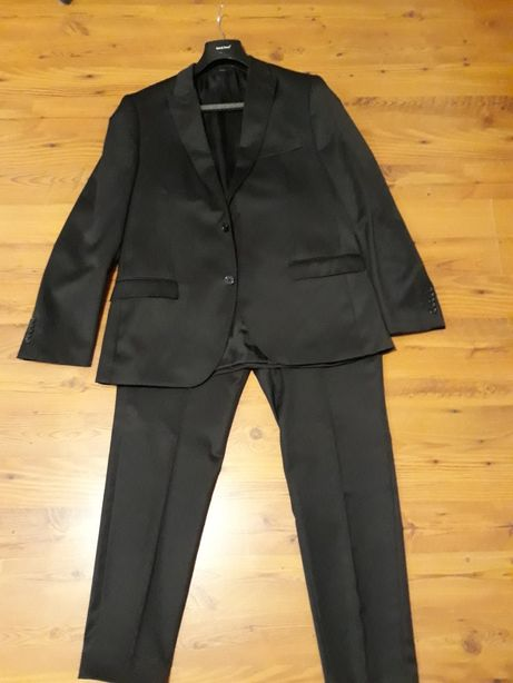 6ed1813d0cf13 czarny garnitur ślub PAWO r. 54/182 108/182 SLIM Koszula GRATIS Prochowice