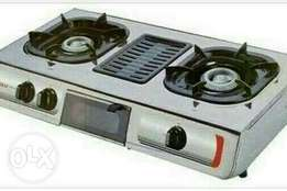 2burner gas with grill