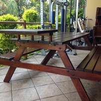 6 Seater A-Frame Picnic Table with Wheelchair access