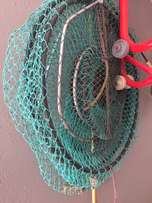 Fish net and catcher