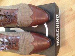 9b384564d Стильные брендовые туфли MOSCHINO. Комбинация кожи и мешковины.