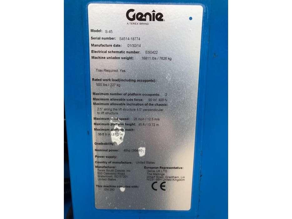 Genie S 45 Trax Hoogwerker - 2014 - image 5
