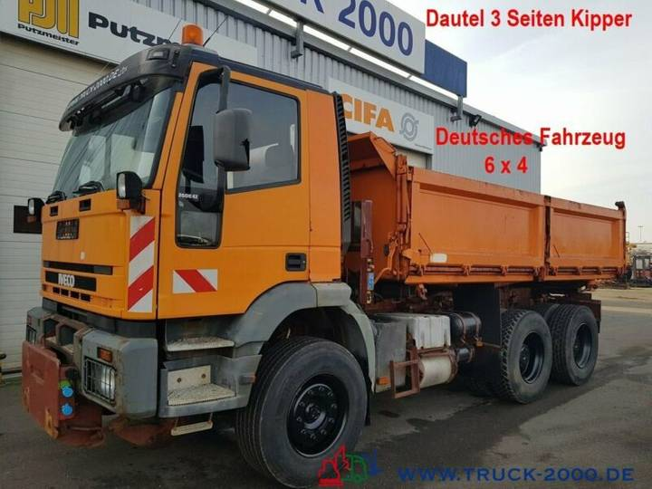Iveco 260E42 6x4 Kipper Arbeitsplatte AHK DeutscherLKW - 2000