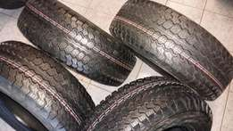 """4x4 16"""" tyres of 245/70R16 Wrangler Goodyear A/T set of four on R6000"""