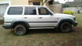 A fast strong old fashioned Toyota land cruiser