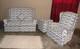 Newly renovated Couches with foot stool.
