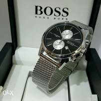 Hugo Boss silver mesh wrist watch