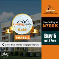 Freedom from your Nagging Landlord.. BUY INTO CHRISTAL GOLD ESTATE
