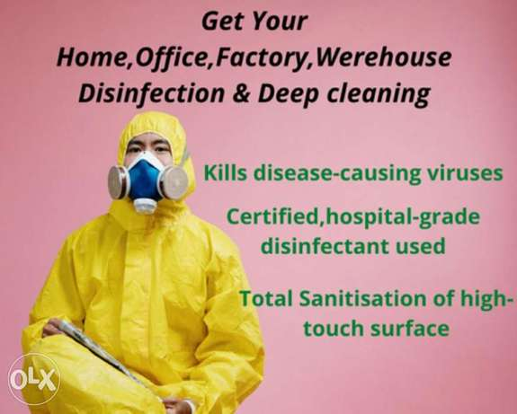Professional cleaning and disinfecting services