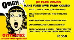 OMG make your own combo month end special. Farm fresh