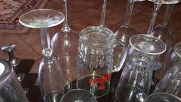 34 Glasses mixed sizes. 7000 for All