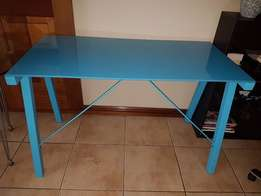 3 x Turquoise Glass Top Desks
