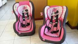Character Carseats 0-10kgs 9-18kgs