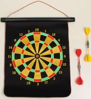 Double-sided Safety Magnetic Dart Board With 4 Pcs Darts Target Game T