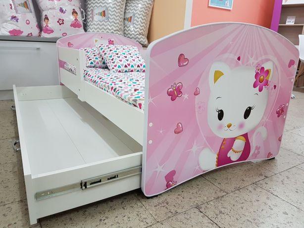 Nowe łóżko 160x80 Białe Różowe Dla Dziewczynki Leszno
