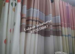 Wall paper and sheers and curtains