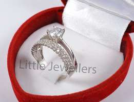 Sterling Silver Ladies Engagement Ring