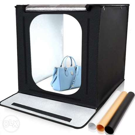 Light Box 60*60CM Portable Softbox Phone Lightbox With Three Color.