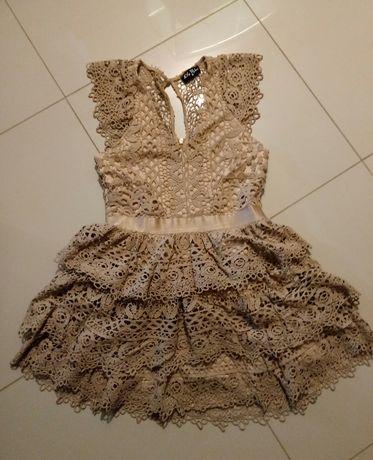 9f045bebdb Sukienka z koronki - Sieradz - Sprzedam śliczna koronkową sukienkę. Była  założona raz na wesele