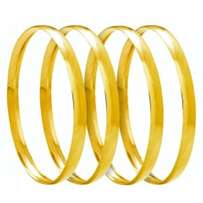 """Gold Jewellery-9CT Solid Gold 6mm """"C"""" shaped bangles"""