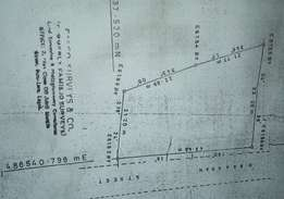 2 plots of land by the market, very close to UBA in Badagry