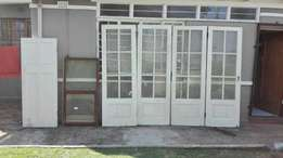 Wooden glass sliding doors, wooden window and door