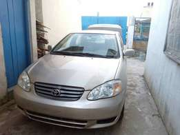 Luxury clean tokunbo Toyota corolla 2004 first body, accident free