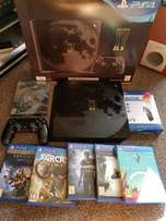Play station 4 pro 1TB mega bundle +2 controllers boxed as new