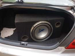 Car woofer and amplifier