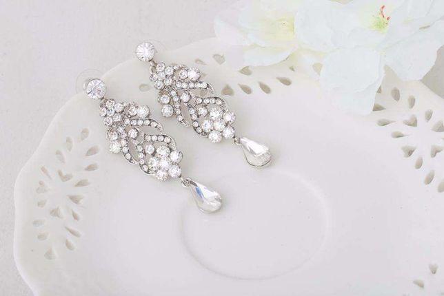 ced4fc3b Kolczyki Ślubne , Kolczyki wieczorowe, Biżuteria Ślubna Cyrkonie  Częstochowa - image 1
