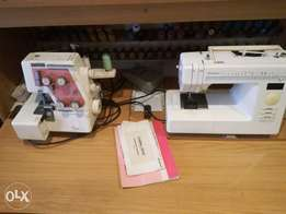 Sewing machine for sale with overlocker