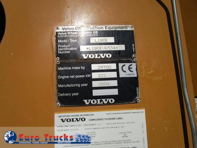 Volvo L 180e - 2004 - image 7