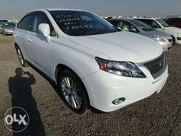Lexus RX 450H Year 2010 Model Automatic 5 seater Pearl White color
