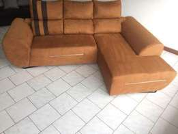Anwar coffee brown mini L sofa beds at 600,000/- Available on order
