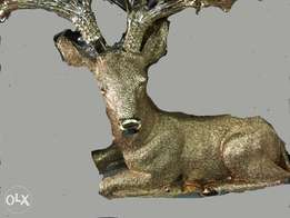 Laying Gold deer Figurine