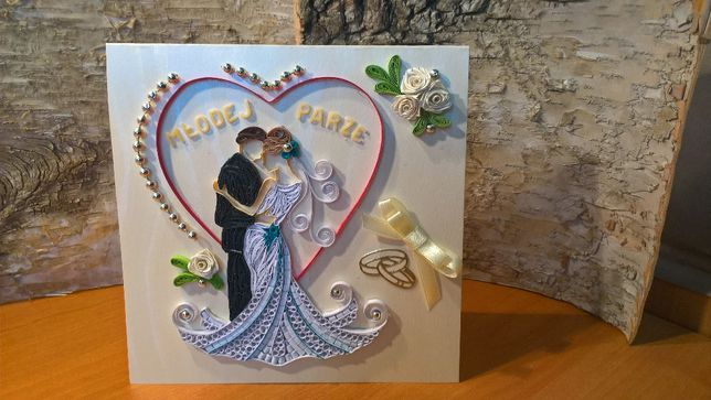 Unikalne Kartki Ślubne, ręcznie robione, quilling Sosnowiec • OLX.pl MC18