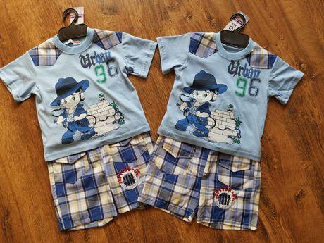 9f61d4512b5e90 NOWY Komplet na lato dla chłopca koszulka i spodenki rozmiar 86, 92  Jastrzębie-Zdrój