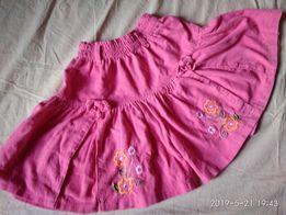 547248957 Юбка шорты 104 размер вельвет ярко розовая