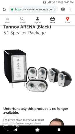 Home theater system s tannoy used as new one