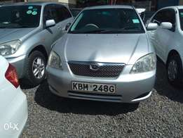 Toyota Runx clean fully loaded high grade silver in colour
