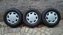 3 X Toyota Condor wheels
