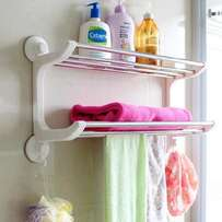 Stainless steel towel rack organizer