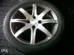 15inch tsw hi polished mags with new tyres (4x100)