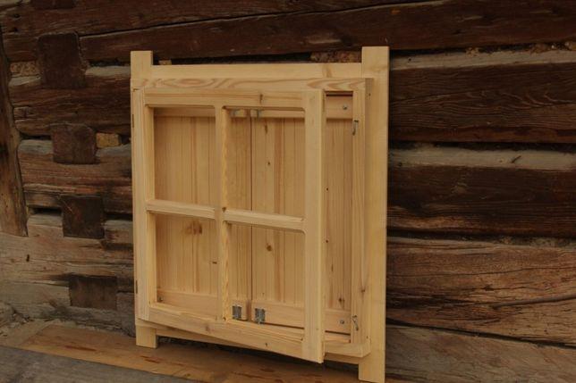 Okno Drewniane Z Okiennicą Domek Altana Garaż Wiata