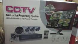 Cctv Ahd dvr with 4 cameras complet kit 3g,4g, brand new in box R1850